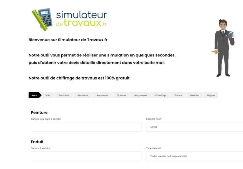 simulateur de travaux